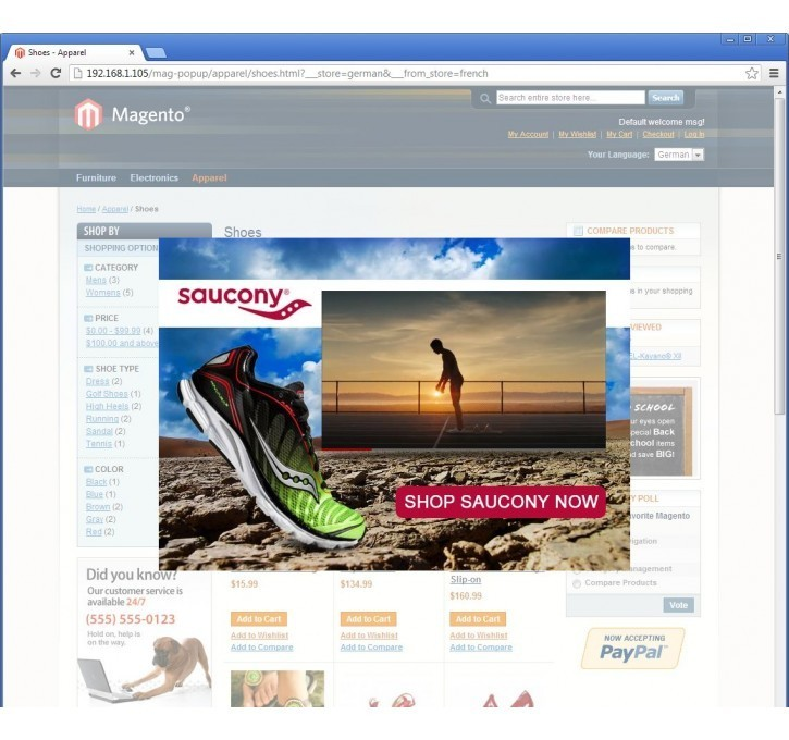Promotional Pop-ups Magento Extension