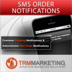 TRM Marketings SMS order notifications Twilio + Magento